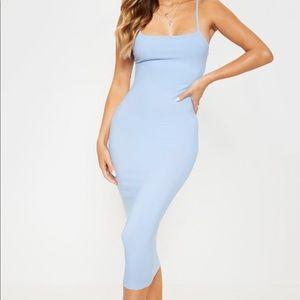 Baby Blue Strappy Midi Dress